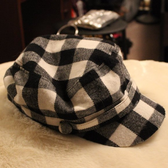 Plaid Conductor Hat